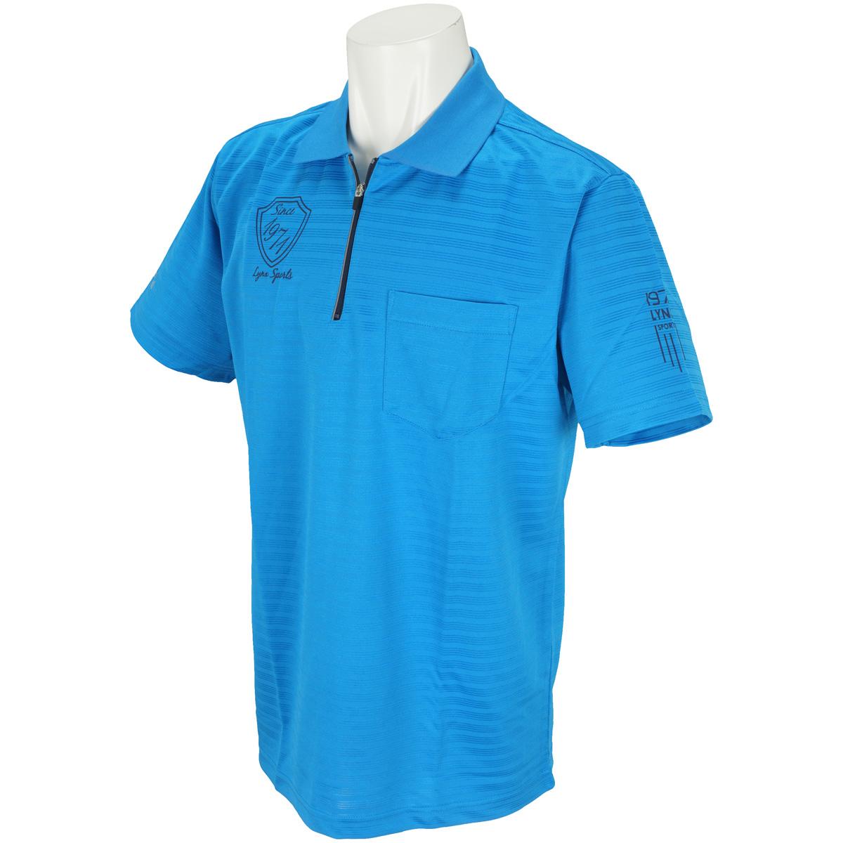 半袖ハーフジップポロシャツ
