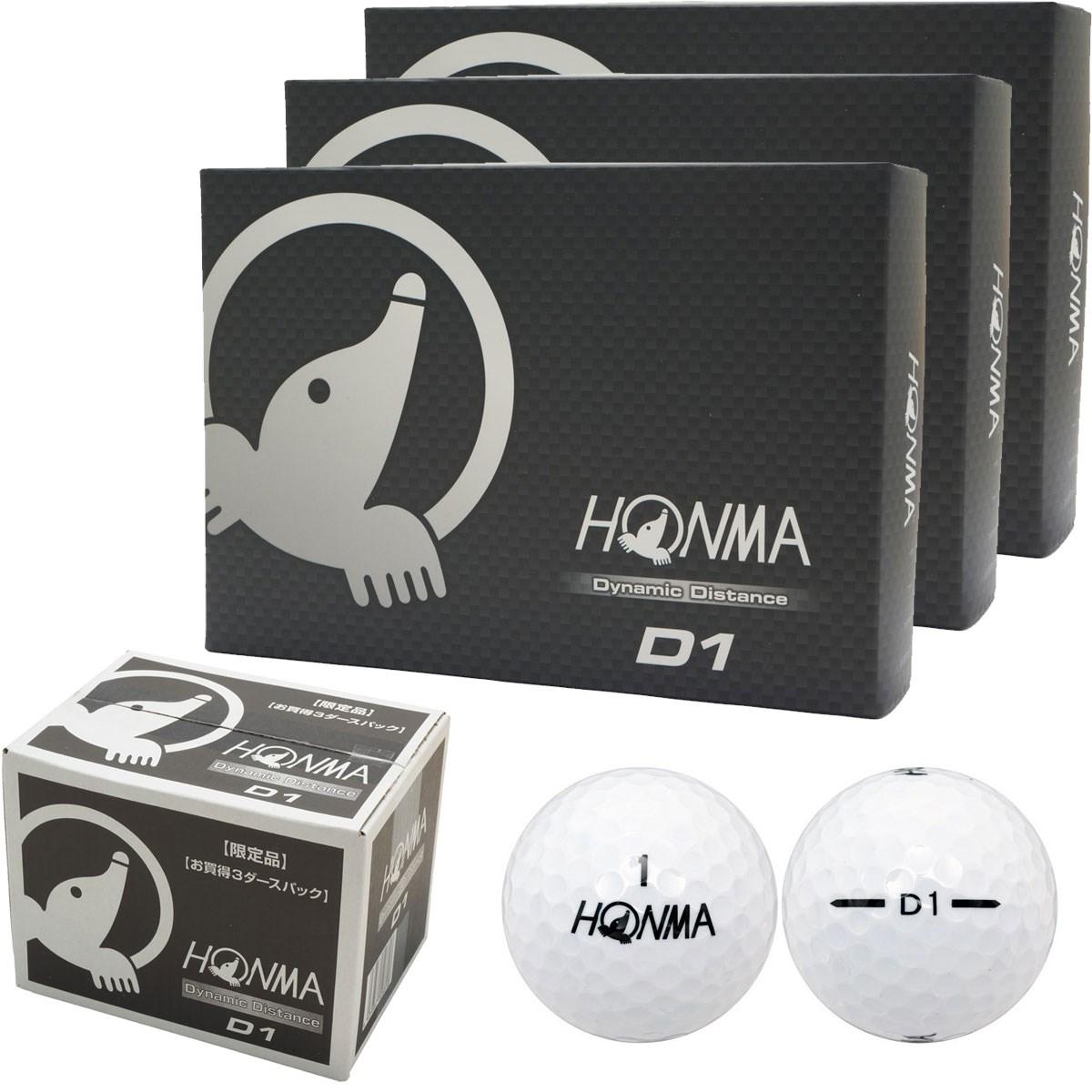 本間ゴルフ HONMA D1 ボール 2016年モデル 3ダースセット 3ダース(36個入り) マルチ/ホワイト