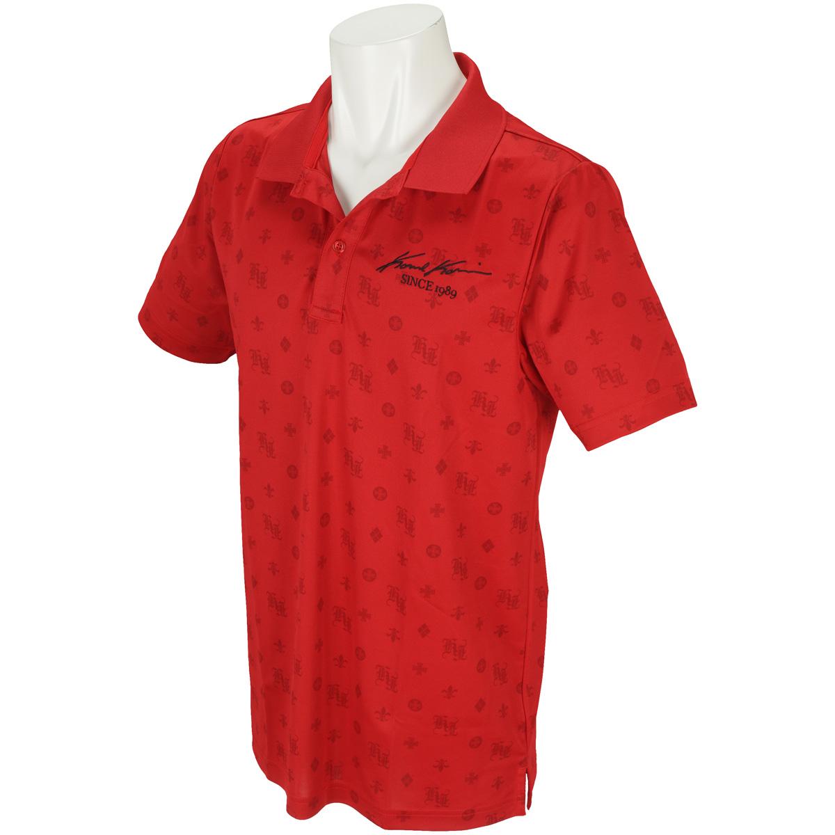 ドライモノグラム総柄ロゴ半袖ポロシャツ