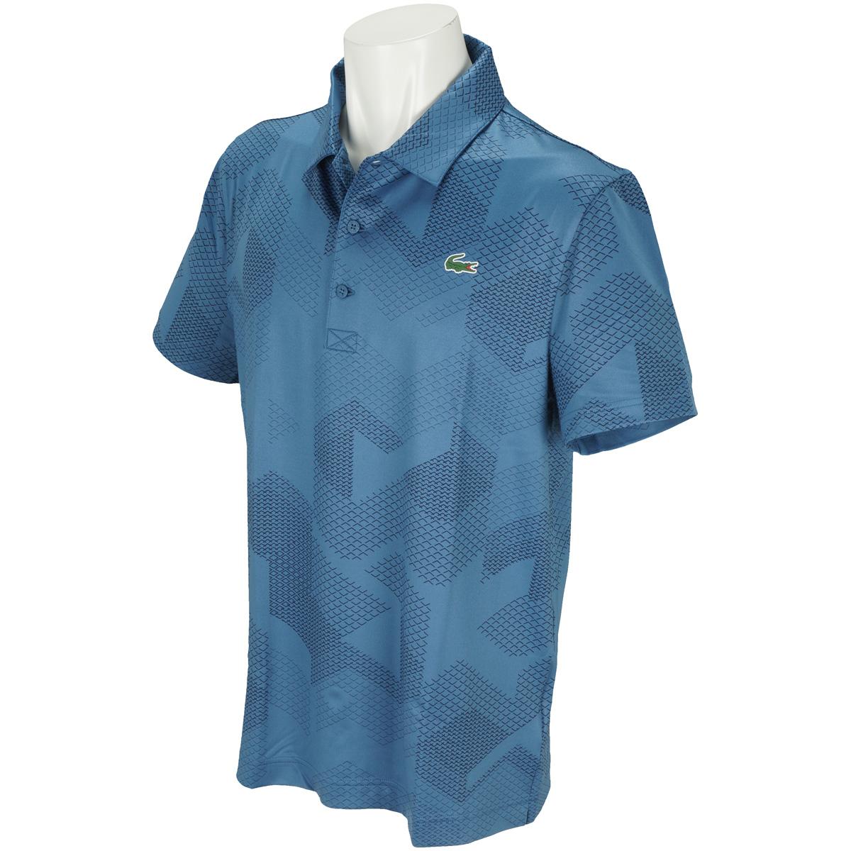 ジオメトリックプリントゴルフ半袖ポロシャツ