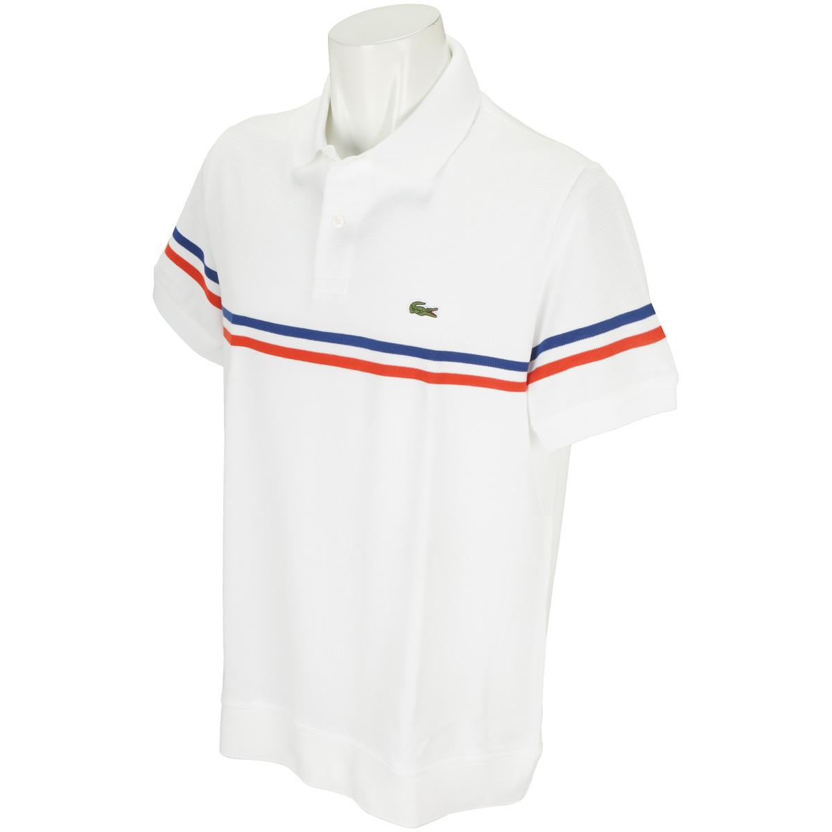 トリプルカラーライン切り替えスリム半袖ポロシャツ