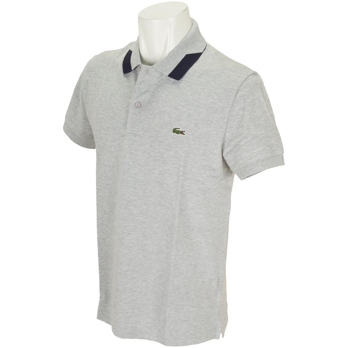 カラーブロック襟半袖ポロシャツ