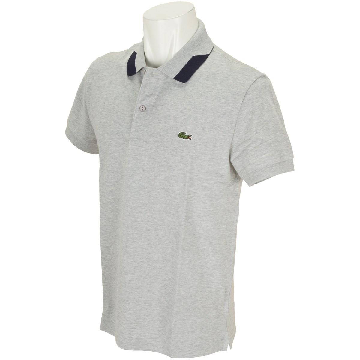 ラコステ カラーブロック襟半袖ポロシャツ