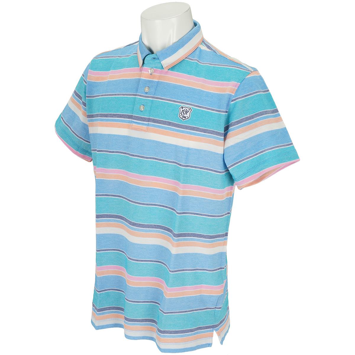 マルチボーダー 半袖ポロシャツ