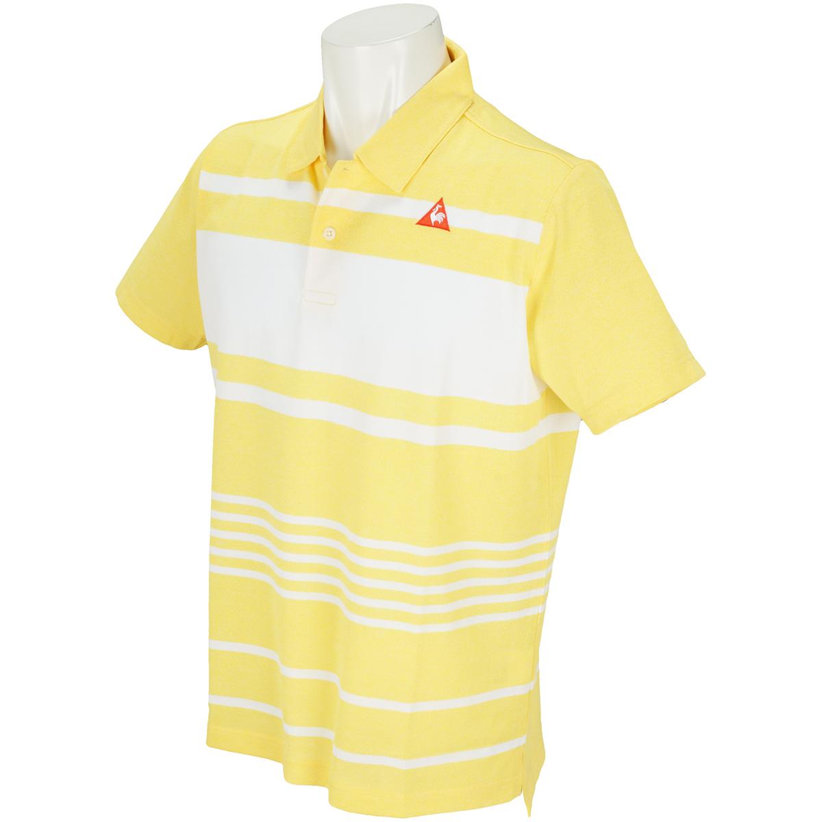 ランダムボーダー半袖ポロシャツ