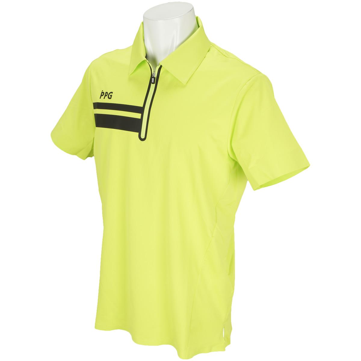 MSY布帛風ミニワッフル 半袖ポロシャツ
