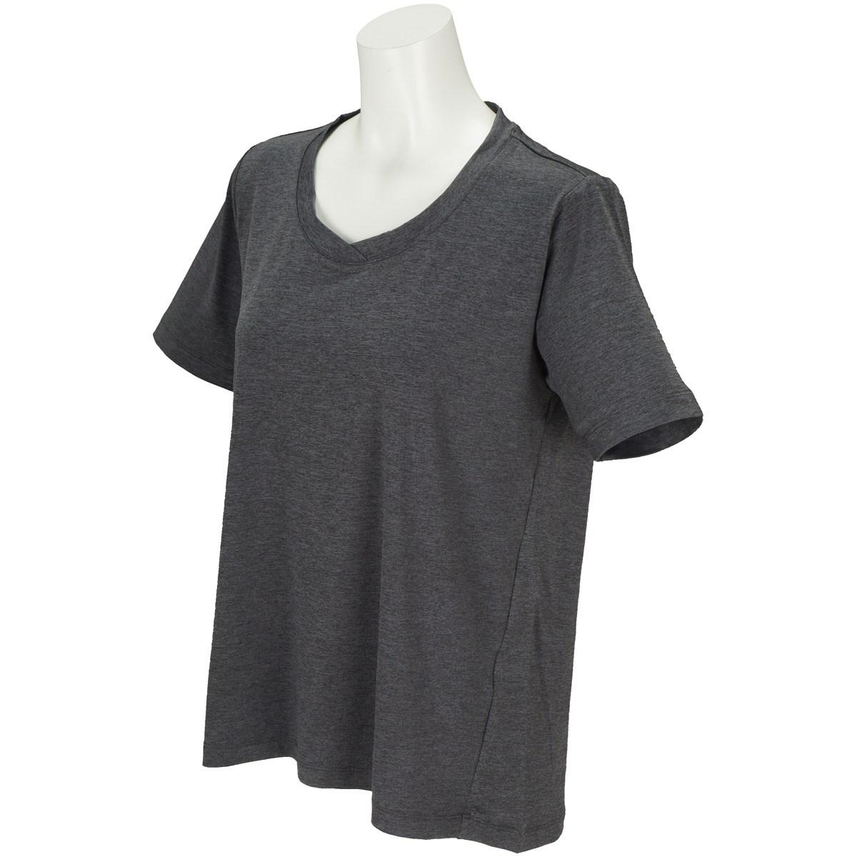 ボディグローブ BODY GLOBE ストレッチ デザイン半袖Tシャツ M ブラック レディス