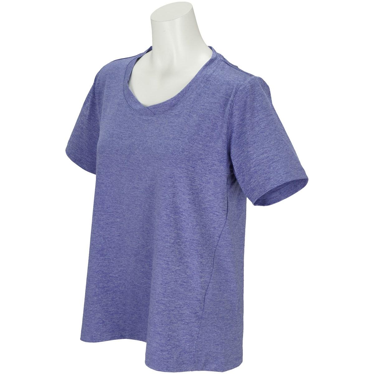 ボディグローブ BODY GLOBE ストレッチ デザイン半袖Tシャツ M パープル レディス