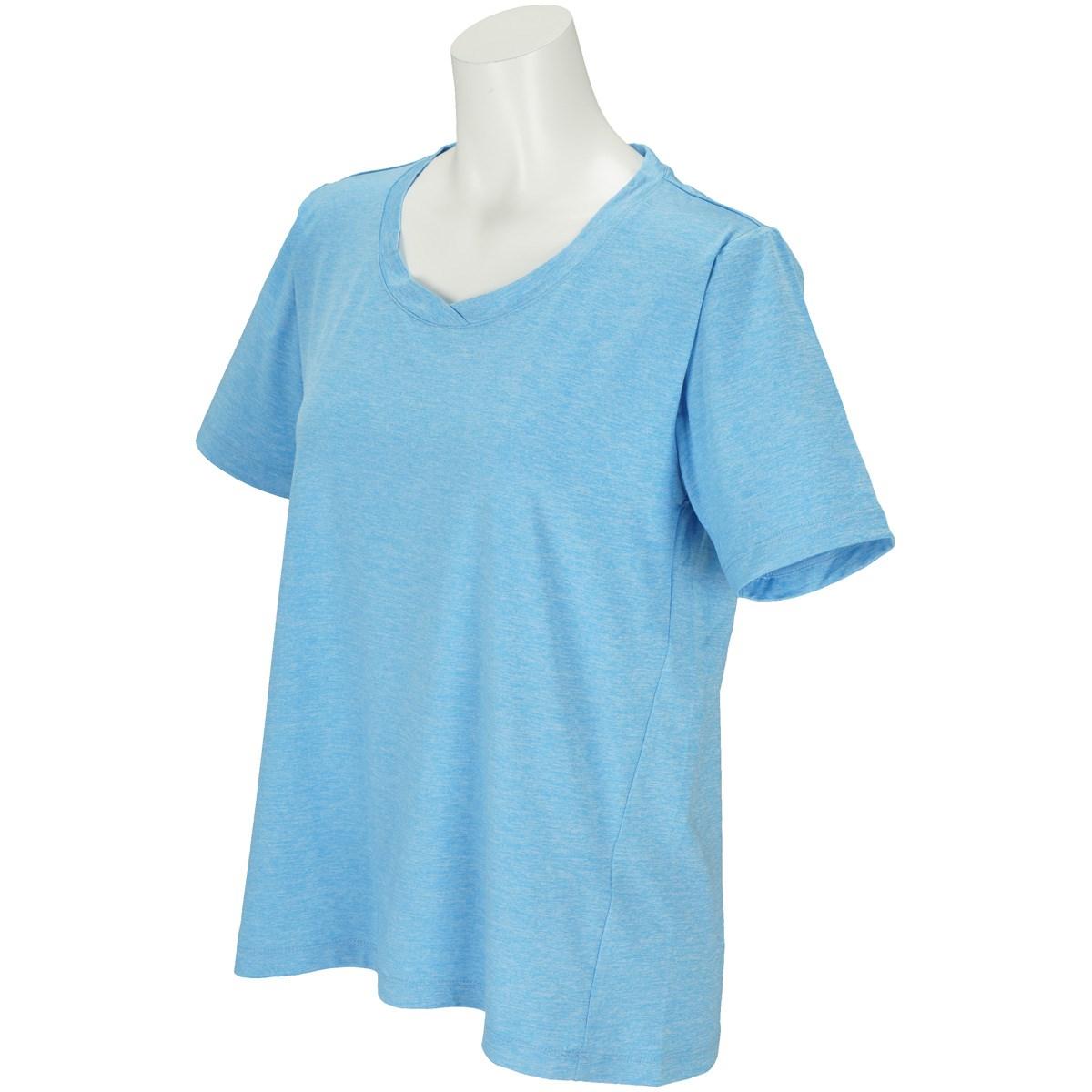 ボディグローブ BODY GLOBE ストレッチ デザイン半袖Tシャツ M ブルー レディス