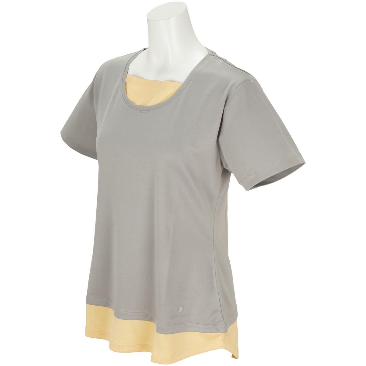 ボディグローブ BODY GLOBE フェイクレイヤード半袖Tシャツ M グレー レディス
