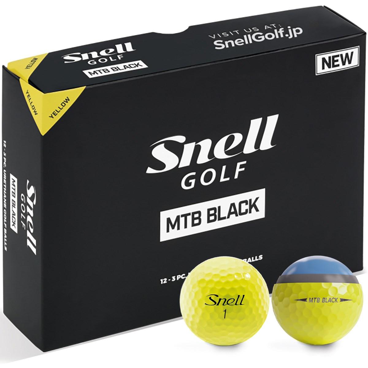 スネルゴルフ Snell GOLF MTB BLACK ボール 1ダース(12個入り) イエロー
