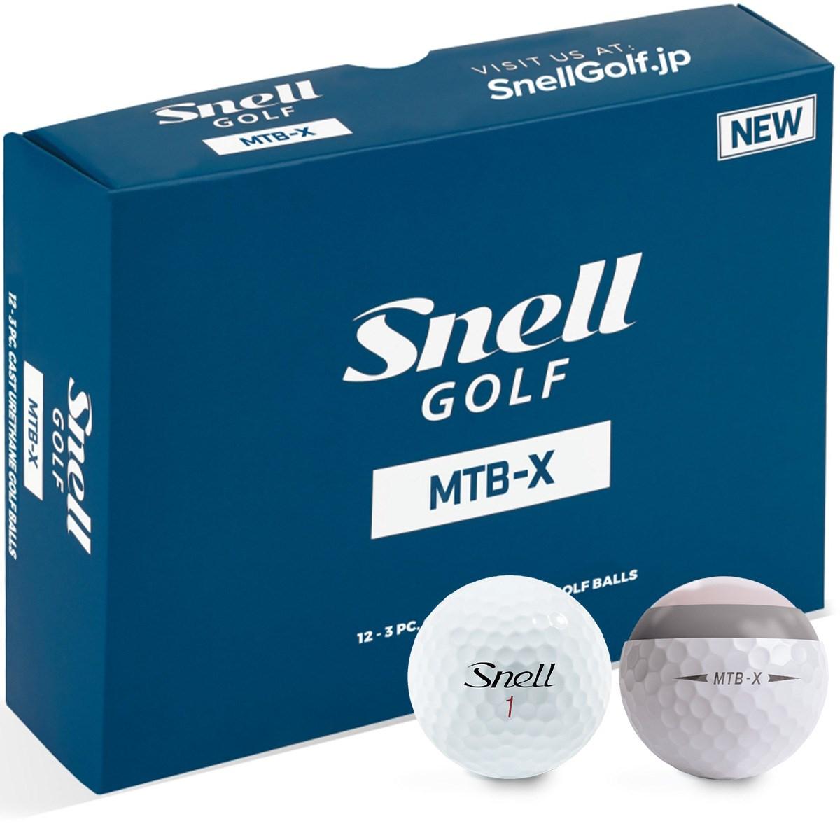 スネルゴルフ Snell GOLF MTB-X ボール 1ダース(12個入り) ホワイト