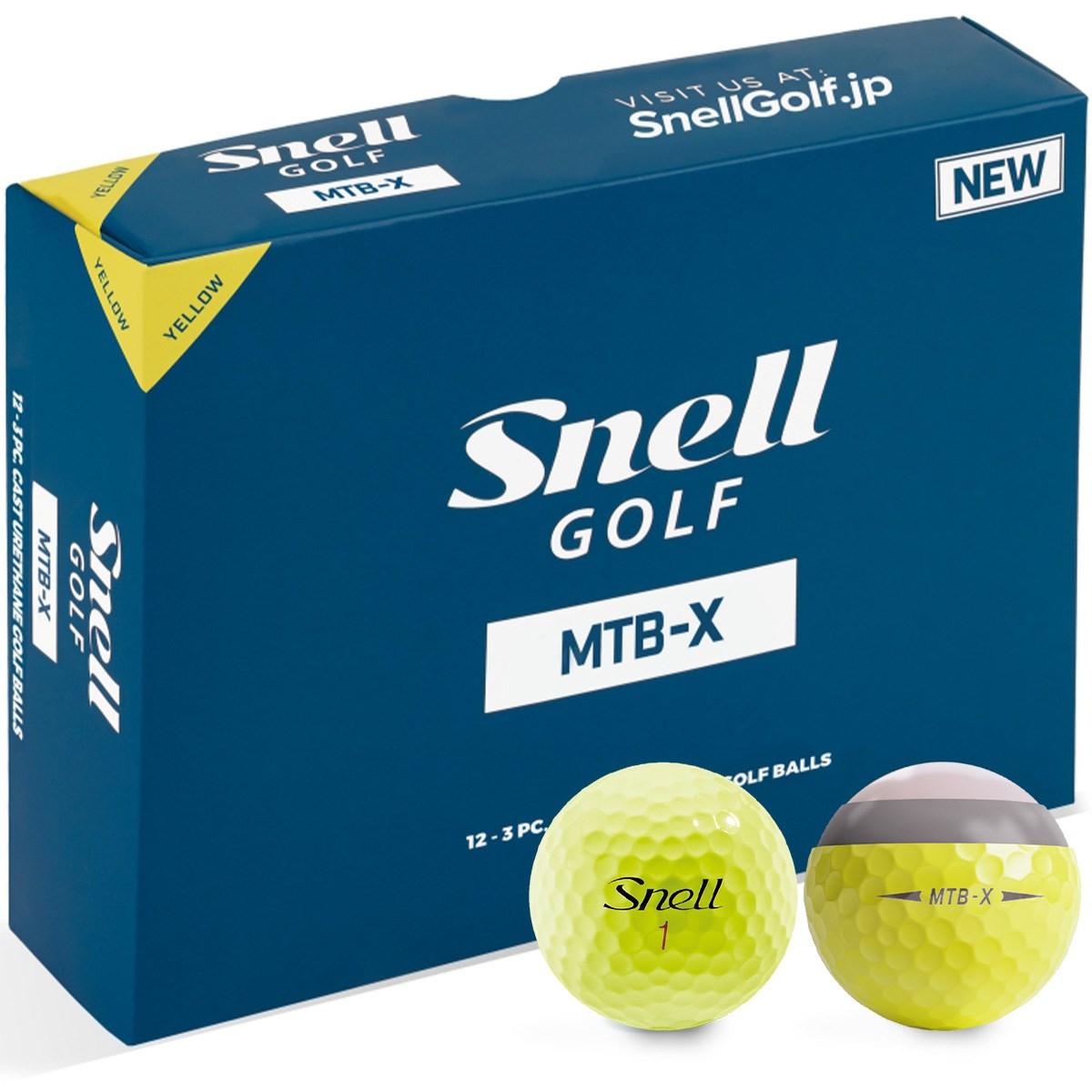 スネルゴルフ Snell GOLF MTB-X ボール 1ダース(12個入り) イエロー