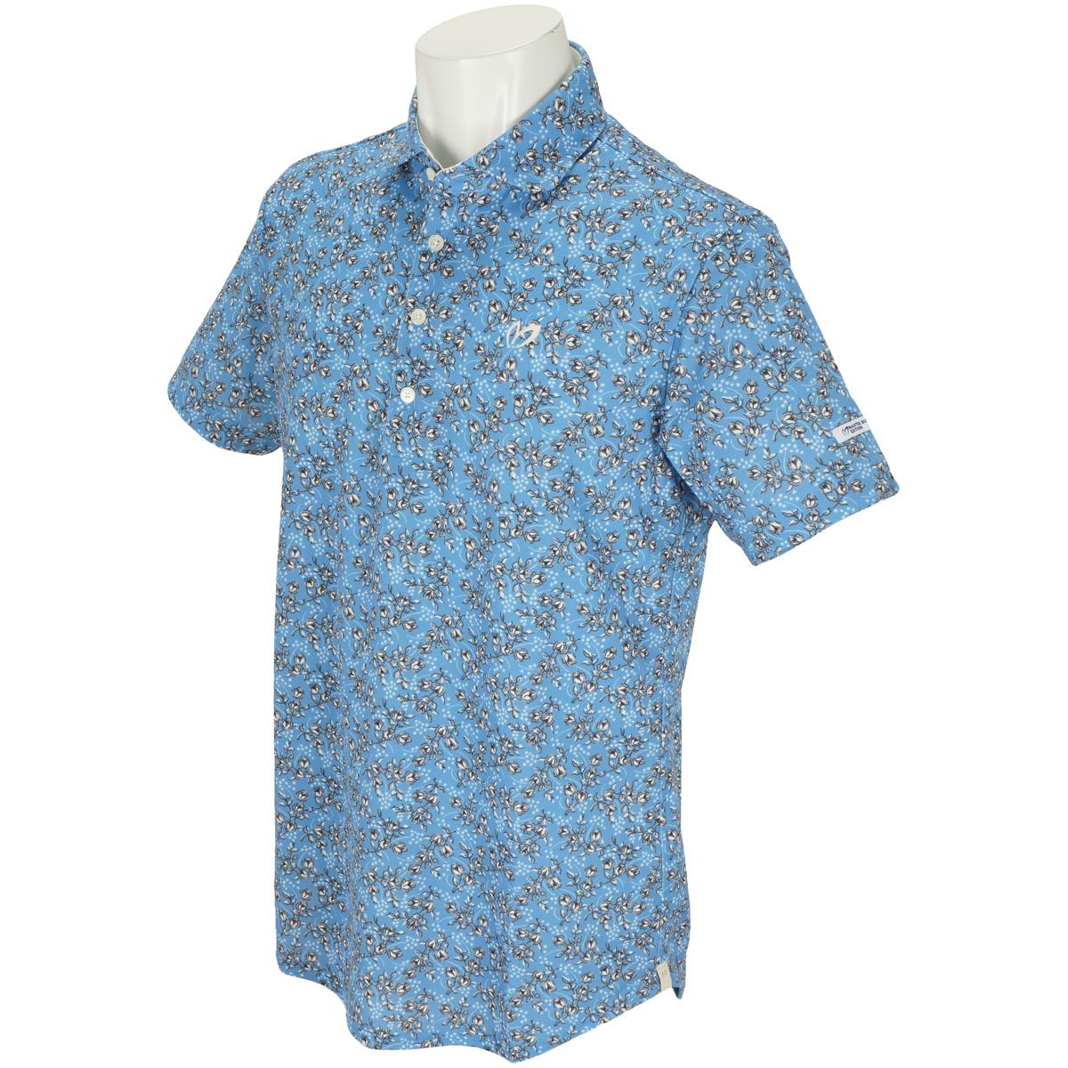 花柄プリント プレミアムTEX 半袖ポロシャツ