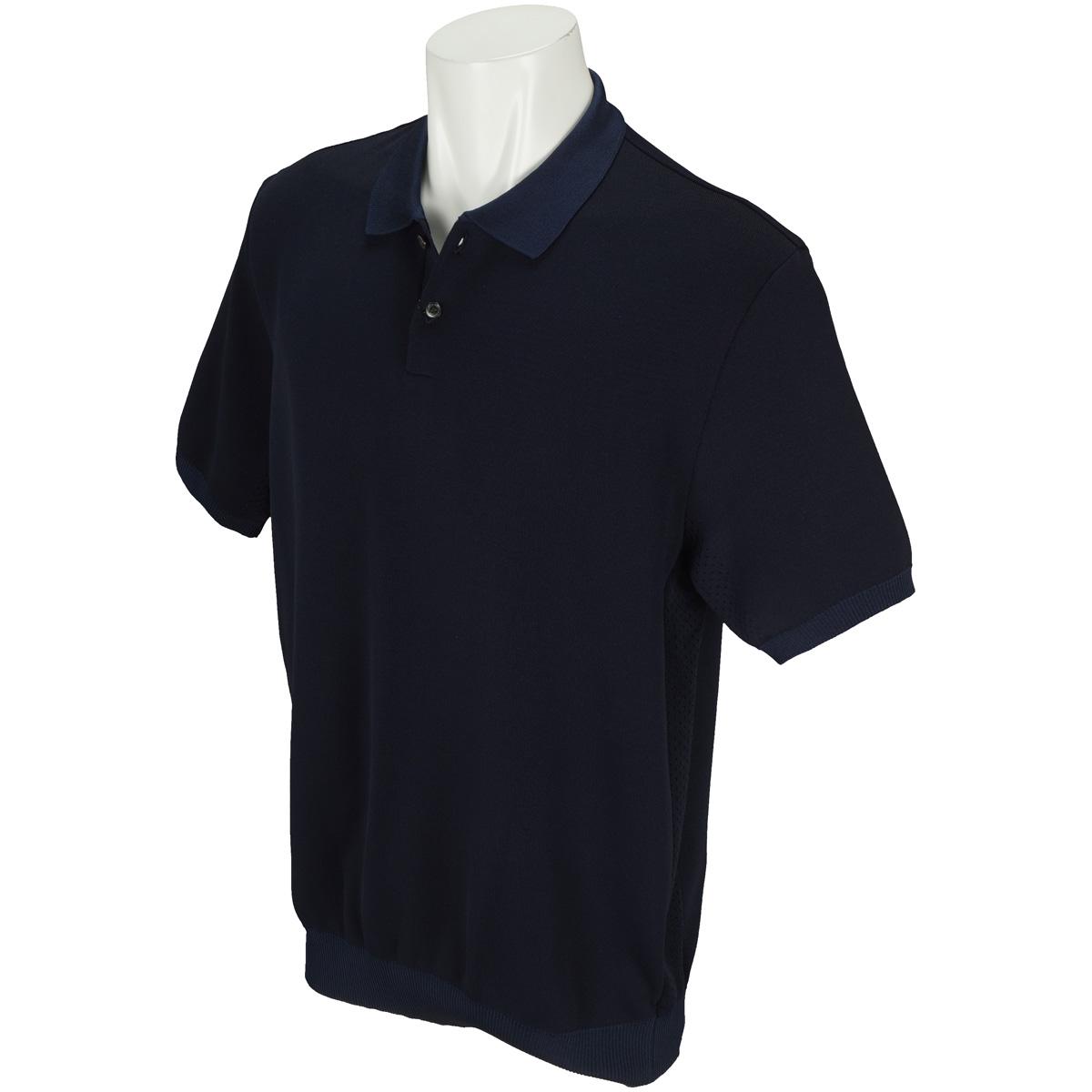 TGサイドアイレット撥水ニット半袖ポロシャツ