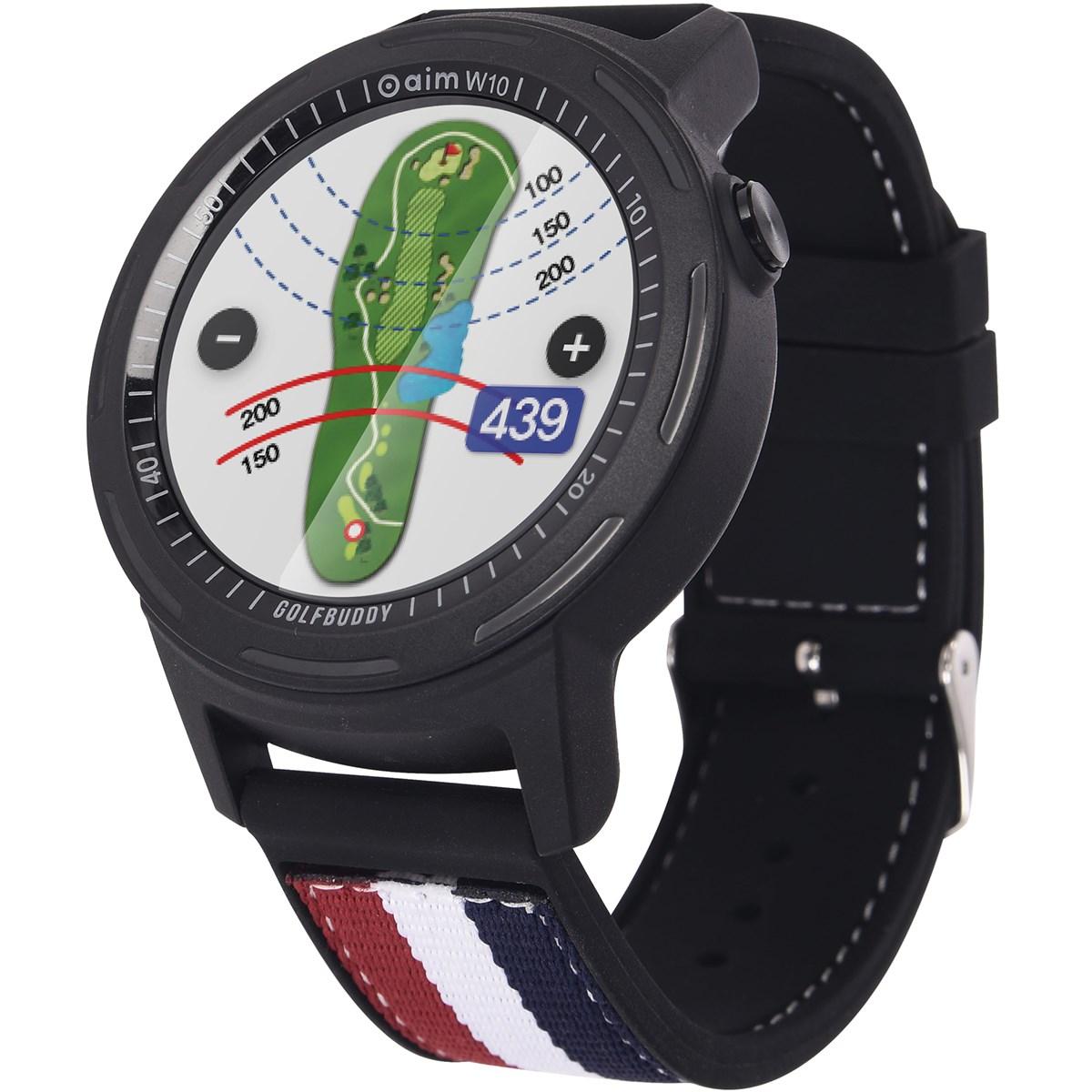 ゴルフバディー GolfBuddy aim W10 スマートゴルフGPSウォッチ ブラック