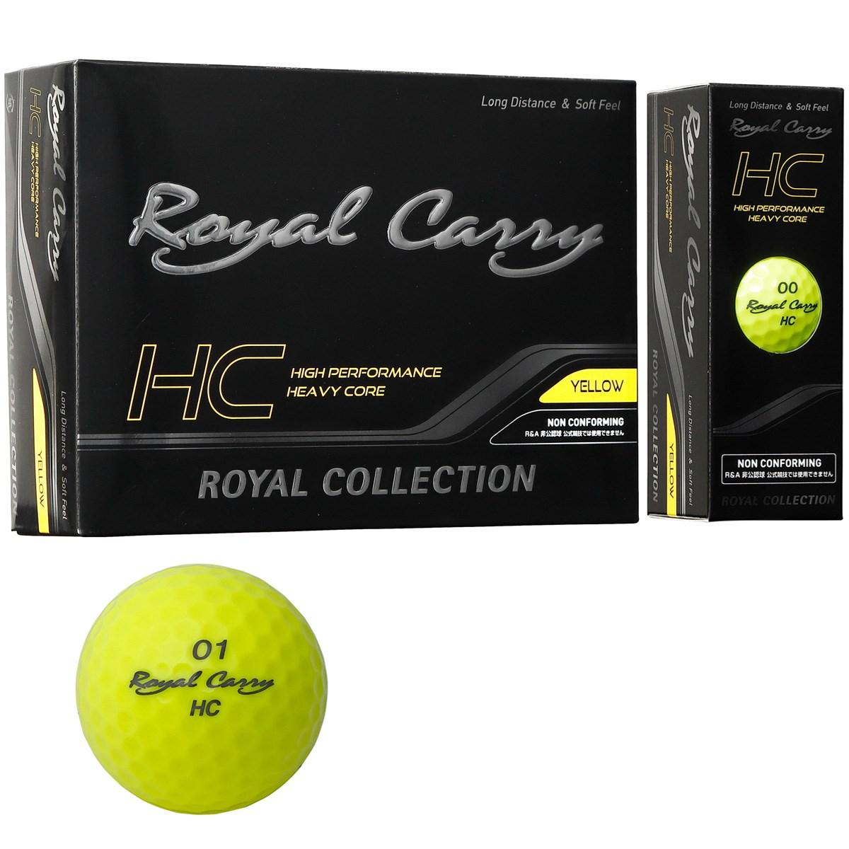 ロイヤルコレクション ROYAL COLLECTION Royal Carry HC ボール 3ダースセット 3ダース(36個入り) イエロー 【非公認球】