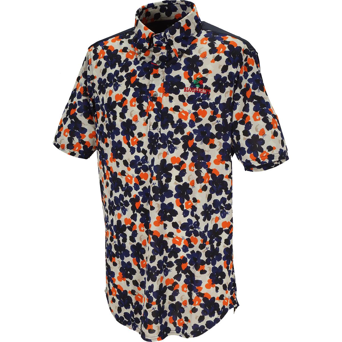 ヨークカラーリングボタンダウン半袖ポロシャツ