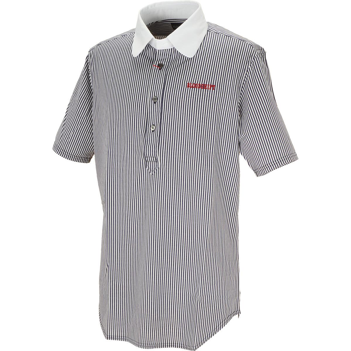 クレリック ラウンドカラー半袖ポロシャツ