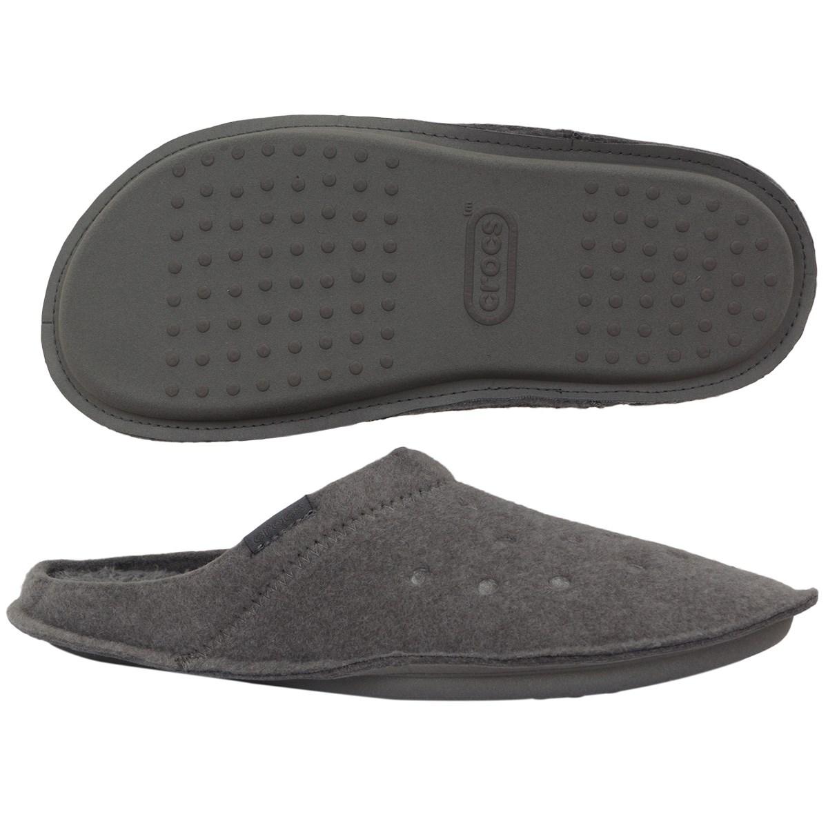 クロックス crocs クラシック スリッパ 28cm チャコール/チャコール