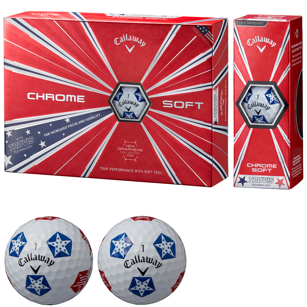 CHROME SOFT TRUVIS STARS/STRIPES ボール