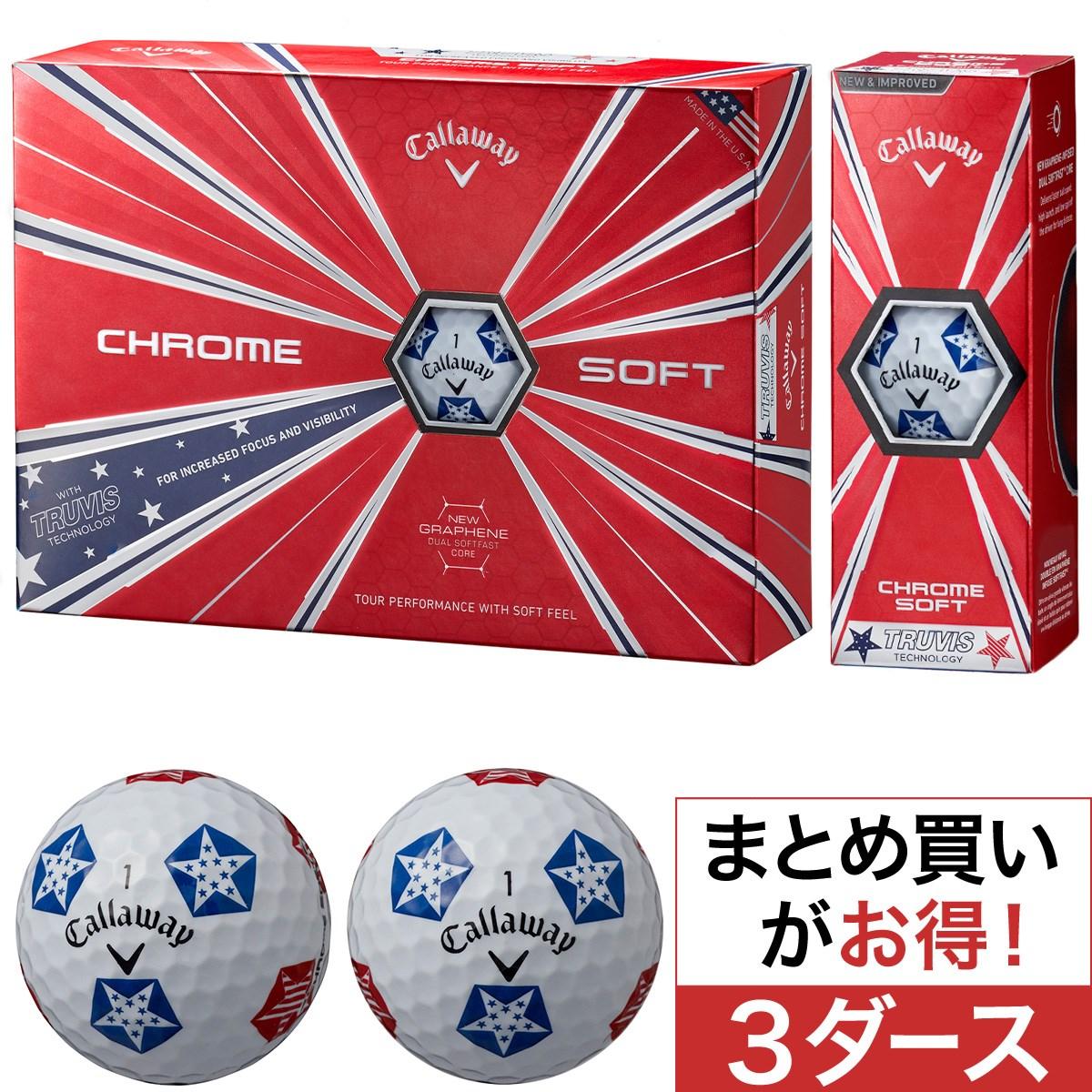 キャロウェイゴルフ(Callaway Golf) CHROME SOFT TRUVIS STARS/STRIPES ボール 3ダースセット