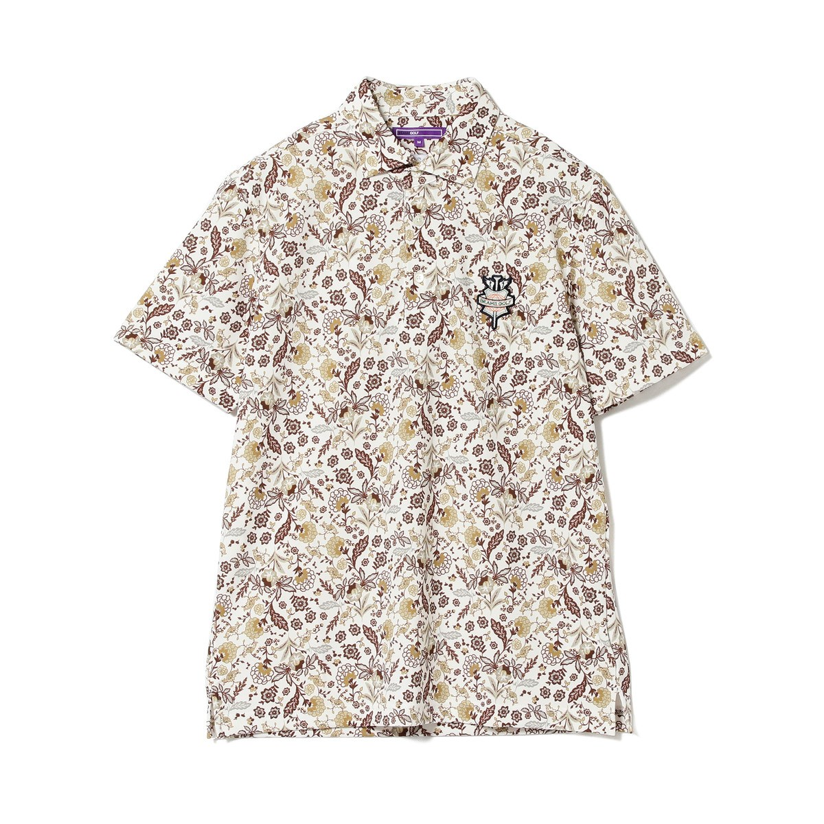 BEAMS GOLF PURPLE LABEL MIX フラワー リゾート ポロシャツ