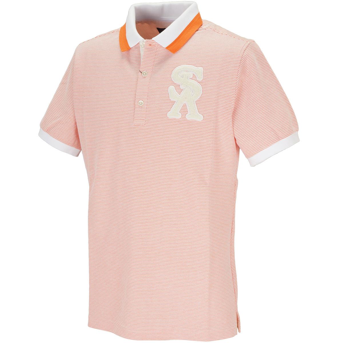 COOLMAXハニカムボーダー半袖ポロシャツ