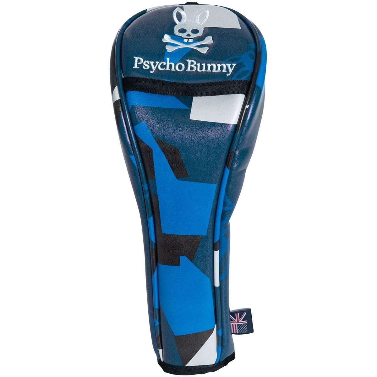 サイコバニー PSYCHO BUNNY NEW CAMO ヘッドカバー FW用 有り/ダイヤル式(3、5、7、X) ブルー 34