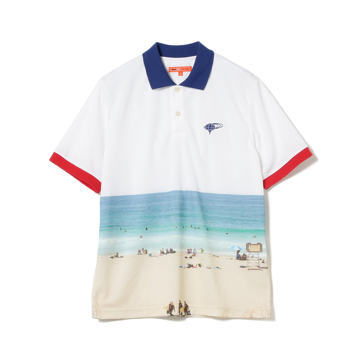 BEAMS GOLF ORANGE LABEL Sea Photo ポロシャツ