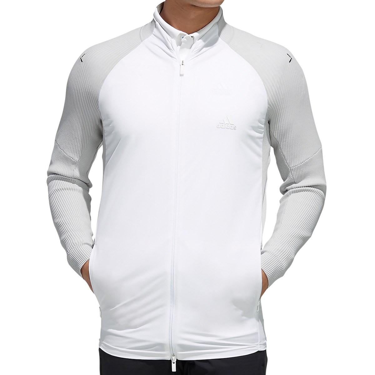 アディダス Adidas ニットコンビネーション ストレッチ フルジップ長袖ジャケット 2XO グレートゥー
