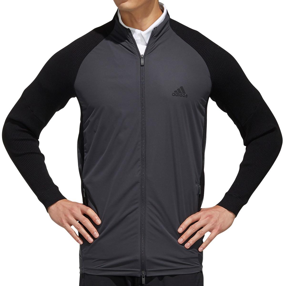 アディダス Adidas ニットコンビネーション ストレッチ フルジップ長袖ジャケット M ブラック