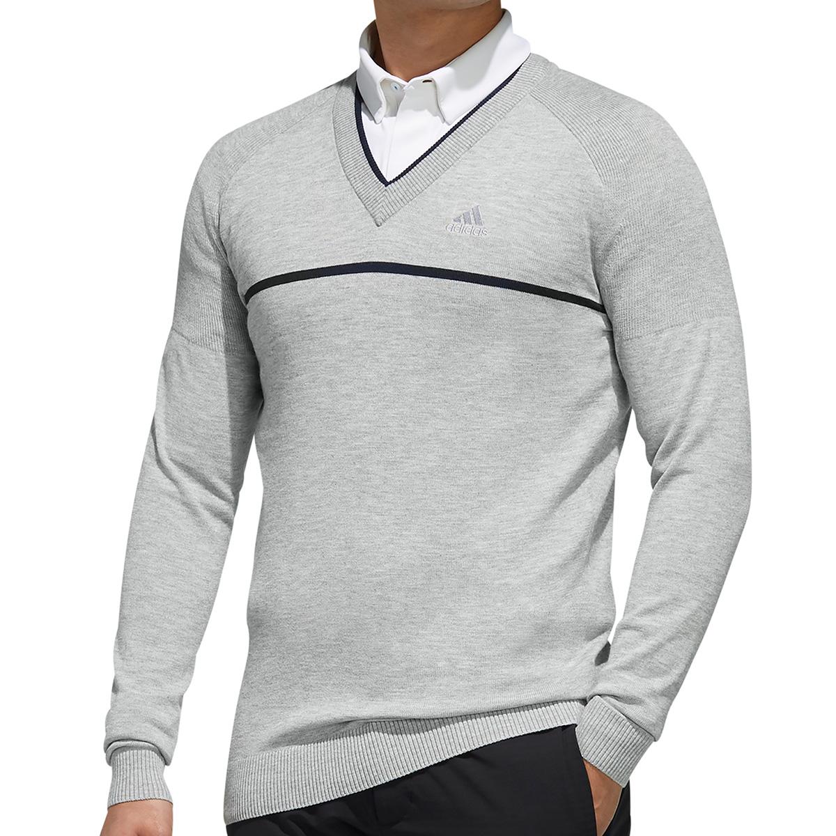 チェストラインド Vネック長袖セーター
