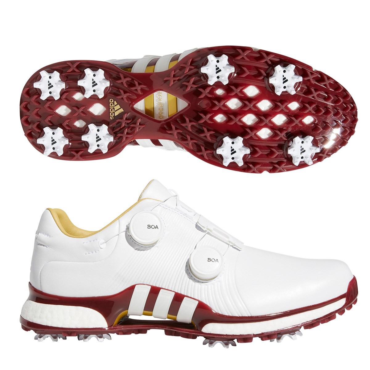 アディダス Adidas ツアー360 XT ツイン ボア シューズ 27cm ホワイト/ホワイト/カレジエイトバーガンディー