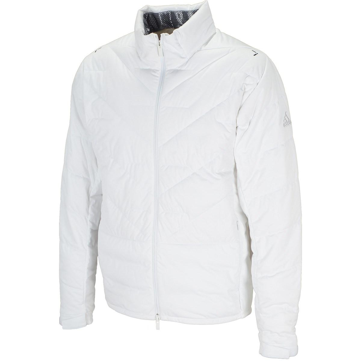 アディダス Adidas ストレッチ パフォーマンス ダウン フルジップ長袖ジャケット M ホワイト