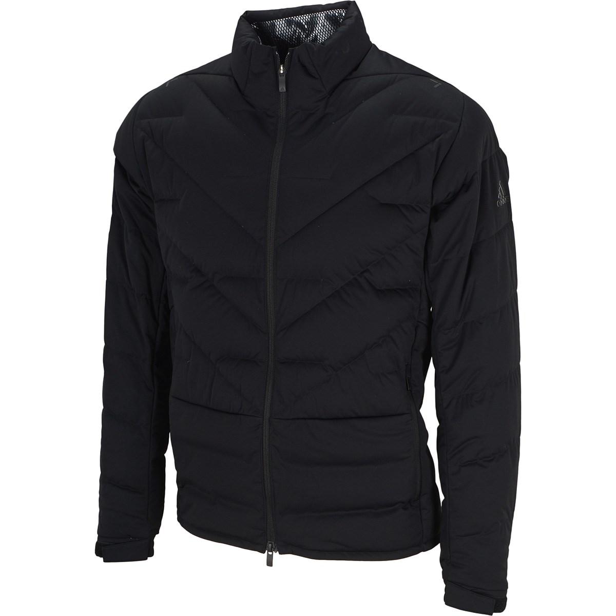 アディダス Adidas ストレッチ パフォーマンス ダウン フルジップ長袖ジャケット M ブラック