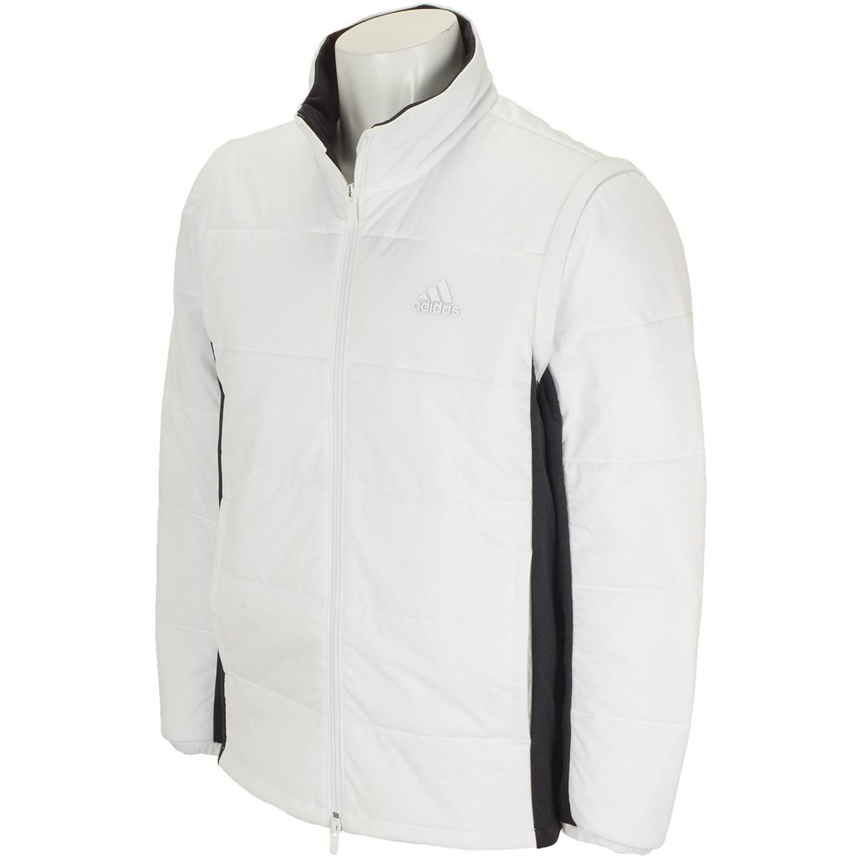 アディダス Adidas ストレッチ ディタッチャブルスリーブ 中綿 フルジップ長袖ジャケット M ホワイト