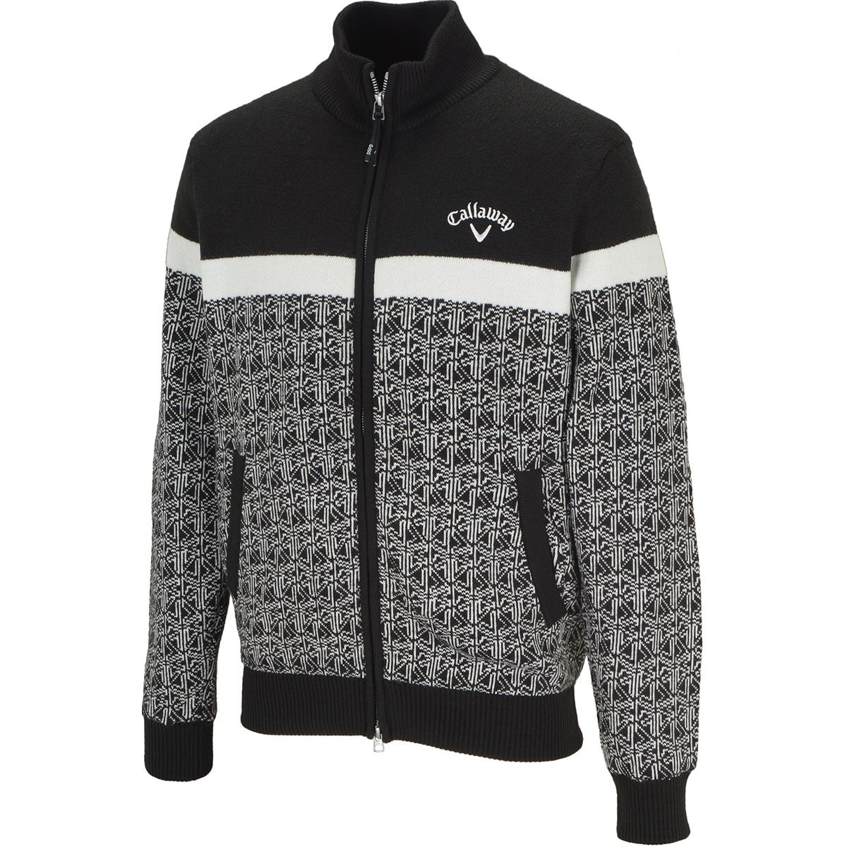 ウィンター柄フルジップセーター
