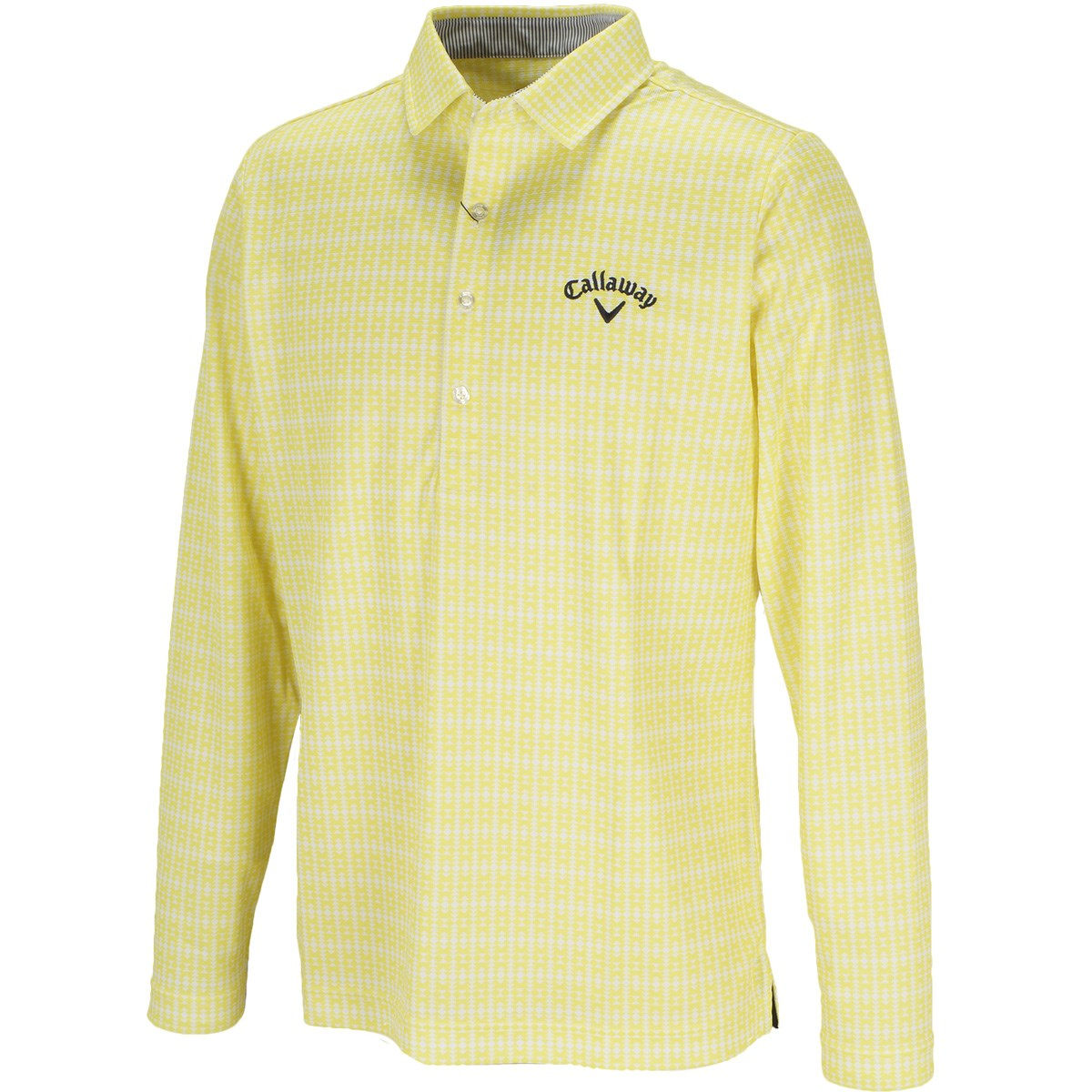 キャロウェイゴルフ(Callaway Golf) ネイティブプリントミニワッフル共襟長袖ポロシャツ
