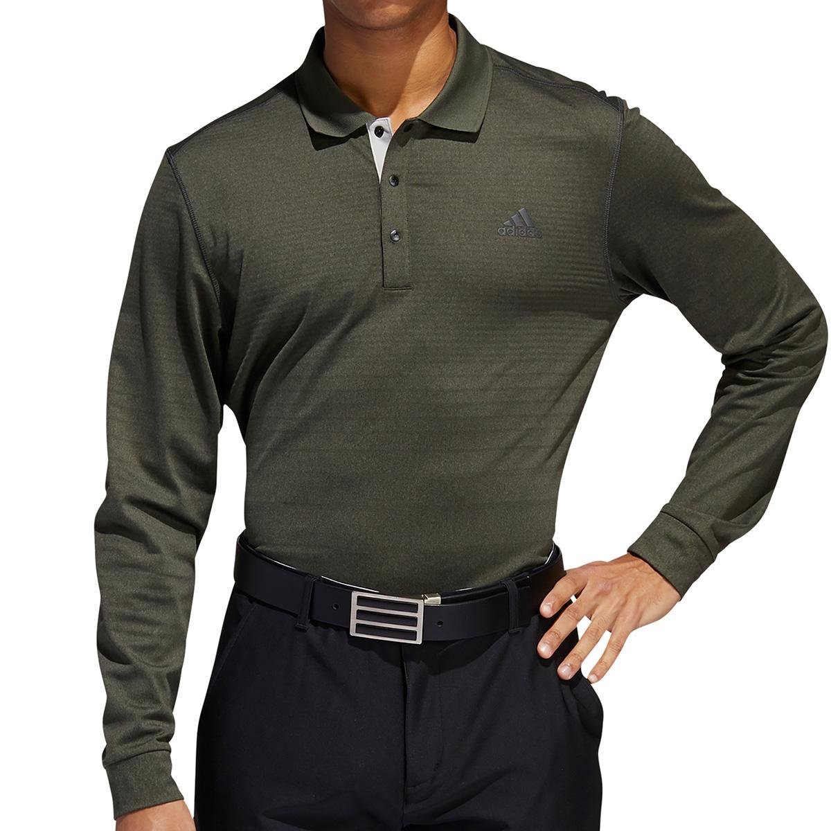 グラデーションボーダー 長袖ポロシャツ