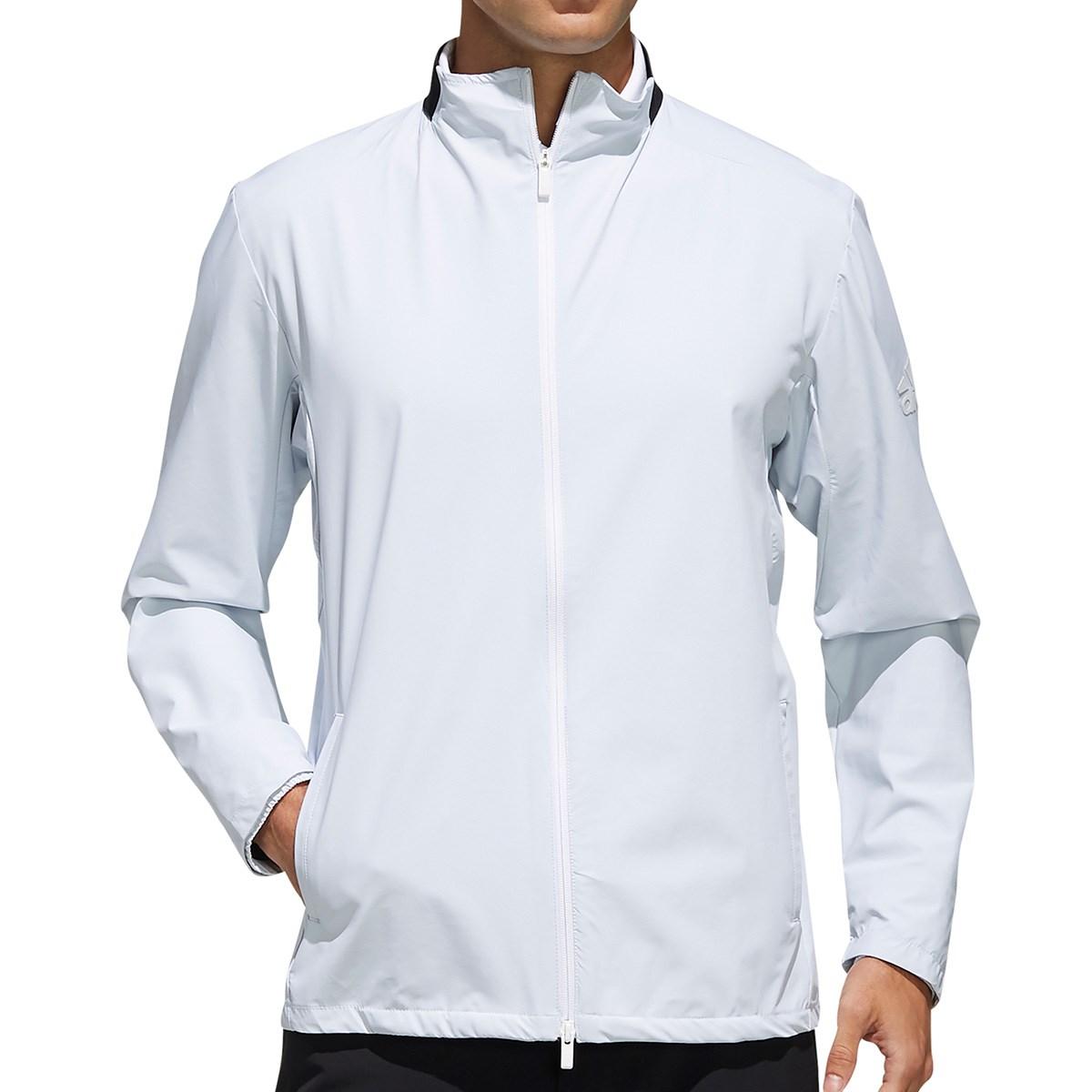 アディダス Adidas climastorm ストレッチカラー 長袖ウインドジャケット M ホワイト