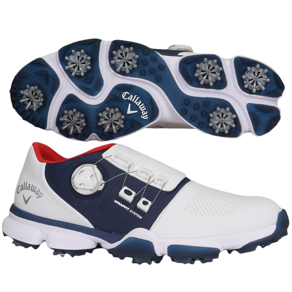 キャロウェイゴルフ Callaway Golf ゴルフシューズ 25.5cm ホワイト/ネイビー 033
