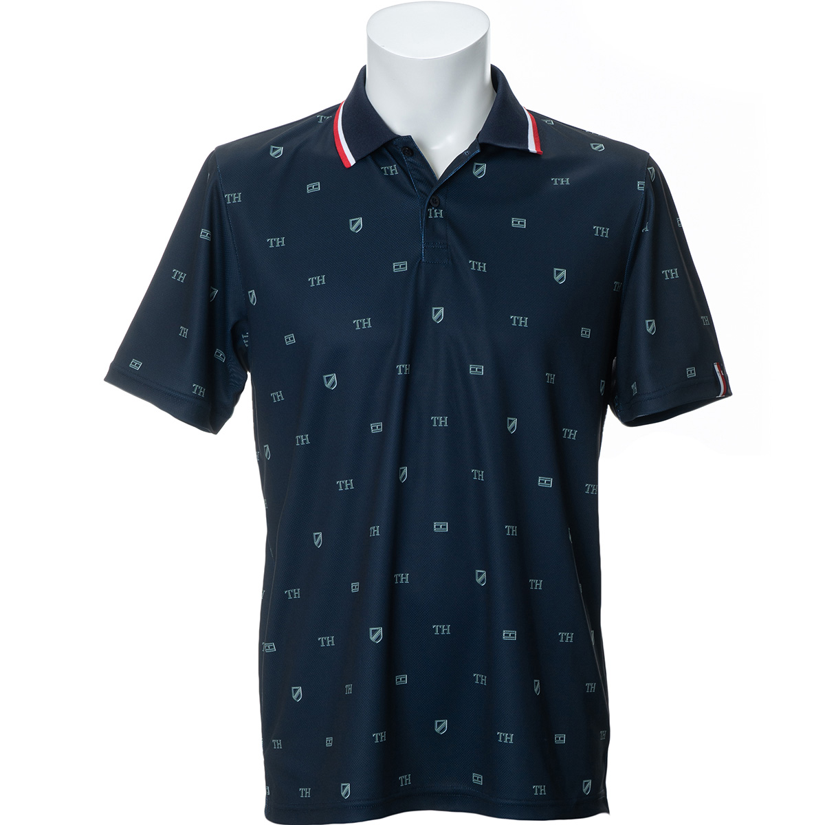 エンブレムプリント 半袖ポロシャツ