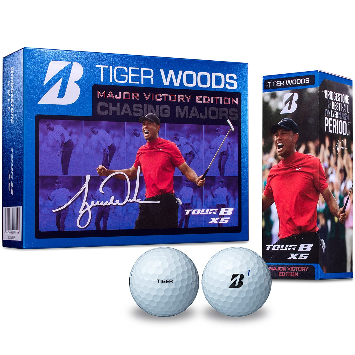 ブリヂストン(BRIDGESTONE GOLF) TOUR B XS TIGER WOODS MAJOR VICTORY EDITION ボール