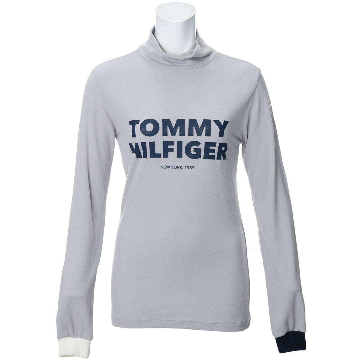 トミー ヒルフィガー ゴルフ TOMMY HILFIGER GOLF ロゴ ストレッチ タートルネック 長袖インナーシャツ S グレー レディス