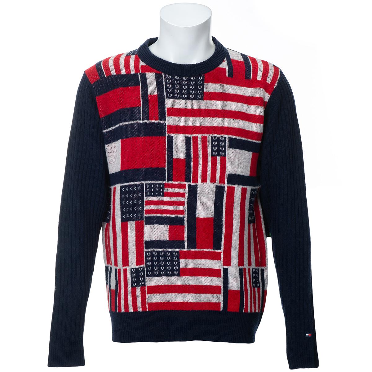 ランダムフラッグ クルーネックセーター
