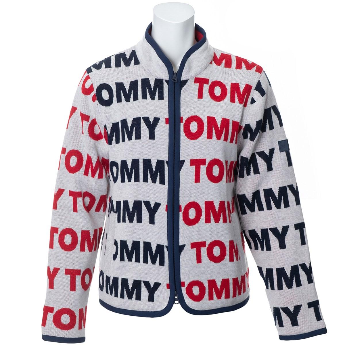 トミー ヒルフィガー ゴルフ TOMMY HILFIGER GOLF ロゴ ジップアップセーター L ホワイト レディス