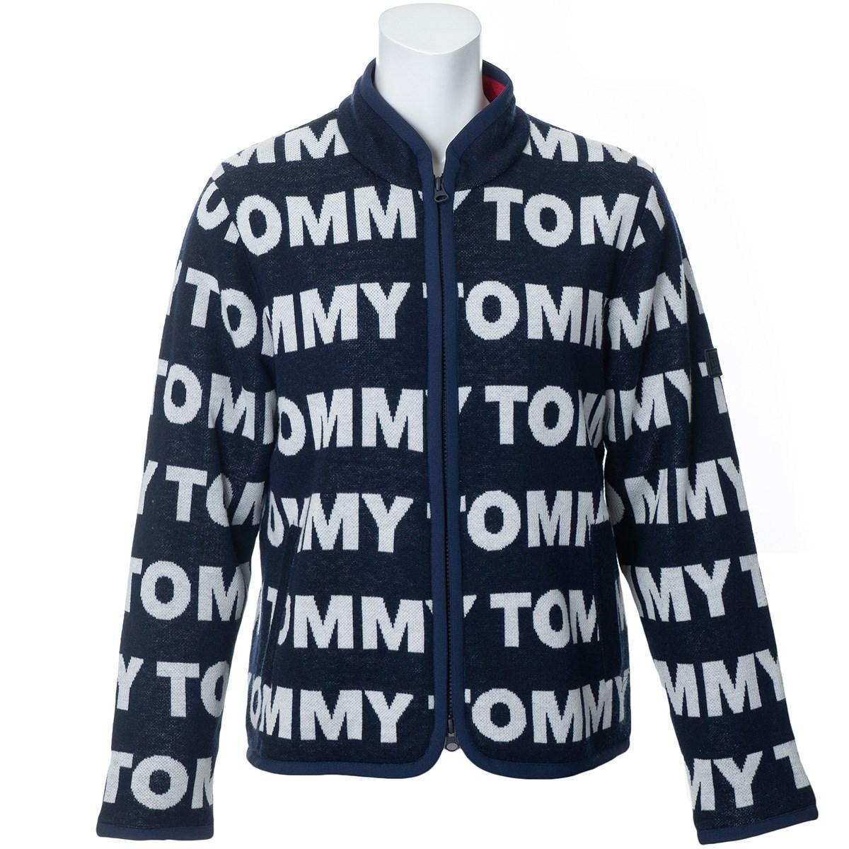 トミー ヒルフィガー ゴルフ TOMMY HILFIGER GOLF ロゴ ジップアップセーター S ネイビー レディス