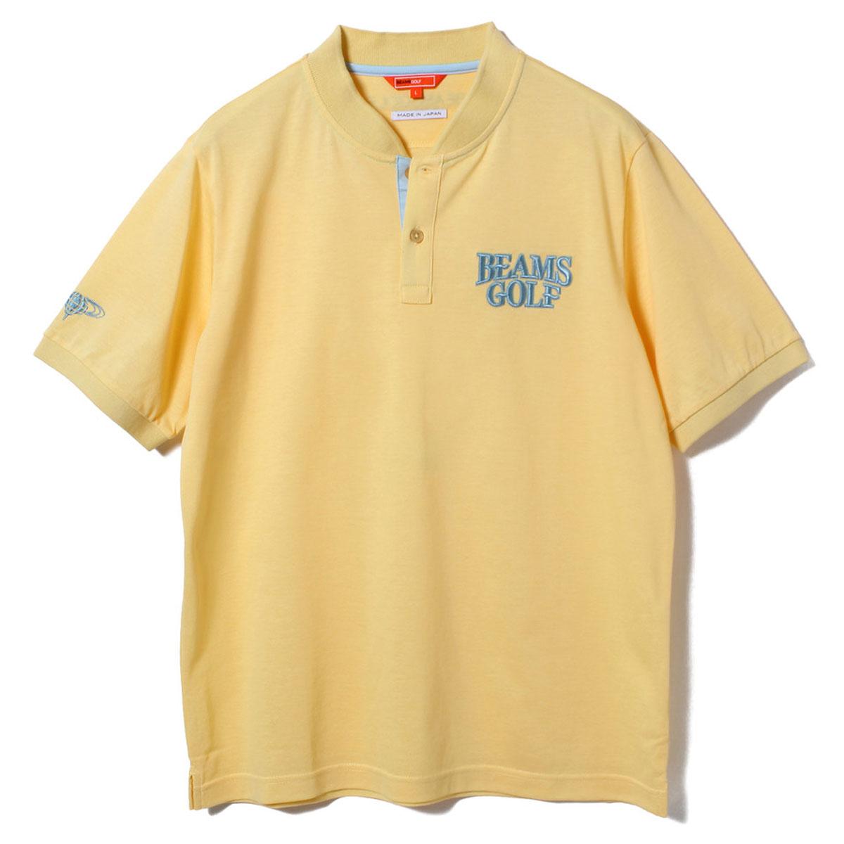 BEAMS GOLF ORANGE LABEL スタンドカラー 鹿の子 ポロシャツ
