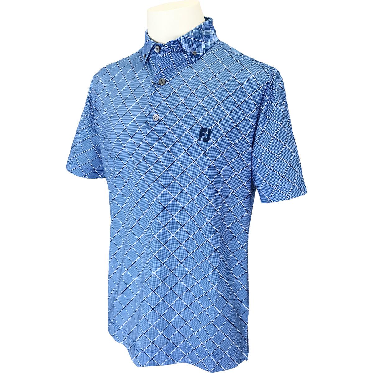 ダイアゴナルプリント ストレッチ半袖ポロシャツ
